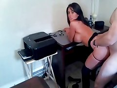 Dark Haired Girl Has Doggy Style Quickie
