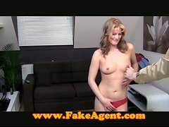 Amateur girl fucks and gets facialed at a casting