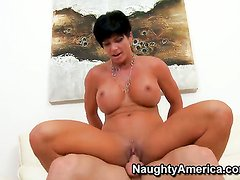 Shay Fox with massive melons and shaved twat