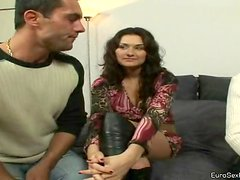 Two Brunette Babes And Their Husbands In Sex Act