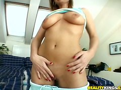 Delightful Brunette Wastes No Time On Foreplay