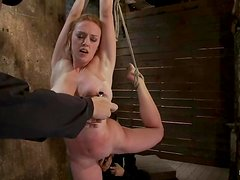 Luscious babe Darling is getting treated so hard