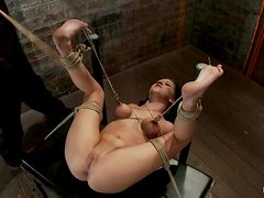 Curvaceous Tessa Taylor gets hog tied and toyed