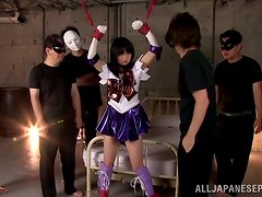 Bondage fun with a horny Asian babe