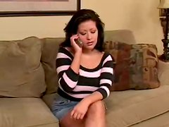 Curvy Misty Mendez smashes her vag with a corncob in the kitchen