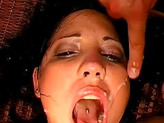 Melli shows that she can swallow like crazy