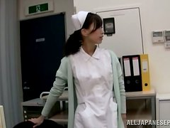 Sexy Asian Nurse is Playing With Herself and Fucking