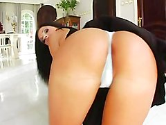Bitch gets nailed in the ass and takes a mouthful