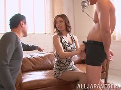 Natsumi Shirai has a threesome with two horny ladies