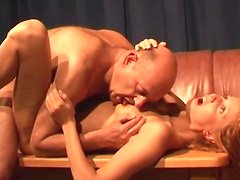 Spicy babe Pavla fuck with a bald Dirk
