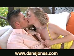 Blonde babe gets her pussy licked and fucked doggy style