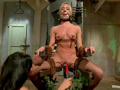 Amy Brooke the hot nurse gets toyed in both holes by Isis Love