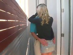 Cougar Mom Catches Teens getting Frisky and Shows Them the Ropes!
