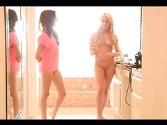 Naughty teens have a heart stopping lesbian scene