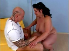 Mature brunette Rosa jumps on a cock after sucking it greedily