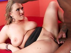 Vicky Vixen the busty MILF gets rammed by Black guy