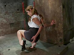 Sexy Felony gets gets her tits tortured in a bondage video