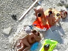 Nude Beach - Two Hot Couples on the Rocks