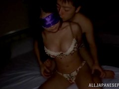 Blowjob and Titty Fuck Before Sex with Blindfolded Asian Kana Tsuruta