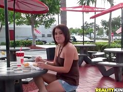 Succulent Genevieve Lee Goes Crazy In Public Outdoors