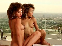 Ebony Shanice Jordyn shows of her naked shape