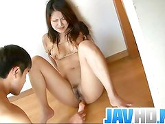Saya Gets Her Pussy Fucked With A Toy