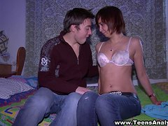 Sabrina the naughty Russian teen has anal sex with her BF