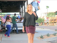 Incredible Courtney II Masturbates Outdoors In Public