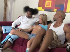 Beautiful Aiden Aspen Fucks Two Black Guys In Front OF Her Cuckold
