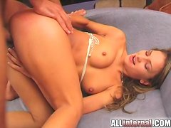 Hot Jennifer gets banged from behind by her brutal BF