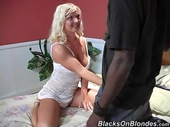 Goddess Barbara Summers Has Interracial Sex With A Huge Dark Pole!