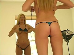 Sweet Alison Angel Puts Some Hot Bikinis On In A Solo Model Clip