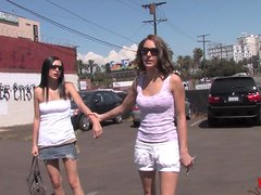 Delightful Tristan Kingsley And Her GF Have An Interracial Threesome