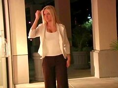 Charming Alison Angel shows her hot boobs in a public place