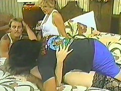 Retro foursome porn video with some horny ones