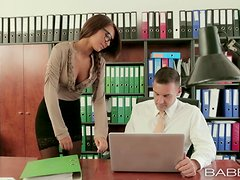 Sex in the office with a super hot babe Alexis Brill