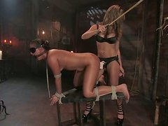 Sexy Babe Gets Introduced To Bondage. Tie Her Up To Keep Her Under Control!