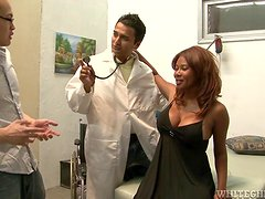 Kymora Lee gets her poontang examined and fucked deep