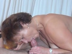 Mature Kerstin G is sucking so freaking deep