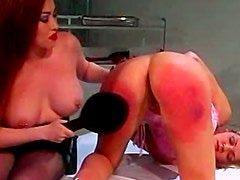 Busty redhead slut fucks with her hot blonde female lover