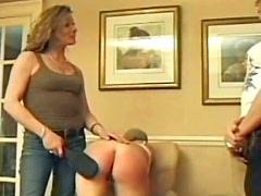 Some nice hotties who get caned and spanked really hard