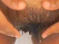 Hairy Asian pussy fucked by big cock