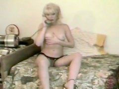 Hot blond haired slut Danielle got spoon style fucked