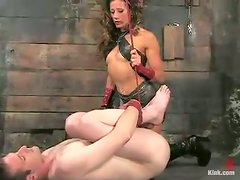Wicked Femdom Action with Pegging Featuring Kym Wilde
