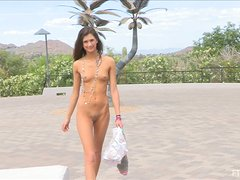 Delicious Jody Gets Naked And Walks Freely In Public Outdoors