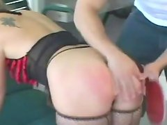 He spanks her ass and penetrates it in some poses
