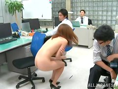 This new and horny office manager is sucking the whole staff