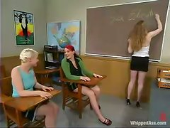 Lesbian Dominatrix Gives Her Slaves To Respect The Authority!