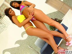 Dirty Lesbians Stick Some Toys Into Their Steamy Holes