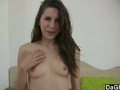 A beautiful solo model rides a Sybian in a webcam show